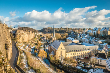 Luxembourg city during winter