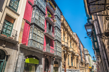 Old streets of Bilbao in Basque Spain