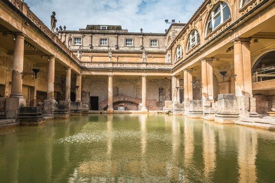 Old Roman Thermal Bath in Bath UK