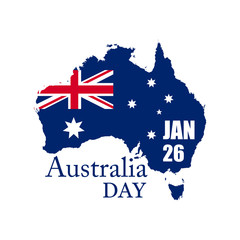 Australia day. Vector illustration.