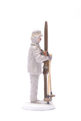 Tin Soldier sniper skier isolated on white