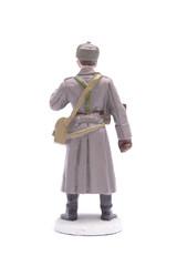 Tin Soldier Senior Lieutenant Border Guards isolated on white