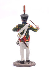 tin soldier Drummer Simbirsk Infantry Regiment, 1812 Isolated on
