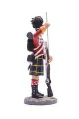tin soldier squaddie Regiment of Scotland 1815 Isolated on white