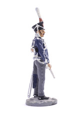 tin soldier staff officer of the Grodno Hussars, 1812 Isolated o