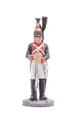 tin soldier of the 25th Dragoon Regiment, 1810Isolated on white