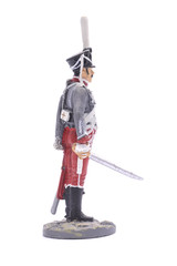 tin soldier Ober-officer of the Sumy Hussars, 1812 Isolated on w