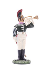 tin soldier Trumpeter Moscow Dragoons 1812 Isolated on white