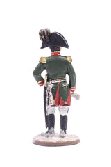 tin soldier  napoleon Isolated on white