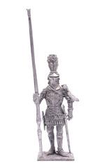 tin soldier Spartan warrior knight figurine isolated on white