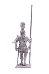 tin soldier Spartan warrior knight figurine isolated on white