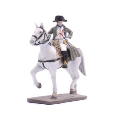 Tin Soldier Napoleon on horseback isolated on white