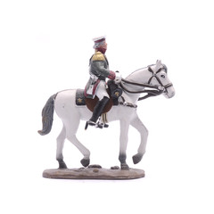 tin soldier Alexander on horseback isolated on white