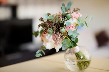 Beautiful wedding bouquet detail