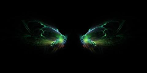 Bunter kreativer Hintergrund - Leuchtende Feenflügel