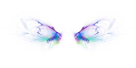 Bunter kreativer Hintergrund - Schmetterlingsflügel