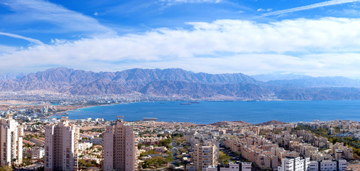 Eilat, Israel - Aerial image over the red sea