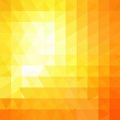 Geometric pattern, triangles vector background in yellow, orange tones. Illustration pattern