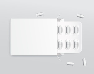 Capsule in Blister Pack : Vector Illustration