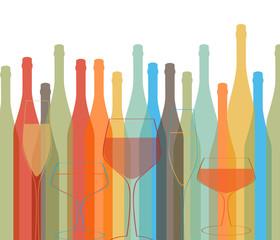 Background Bottle Vector Alcoholic