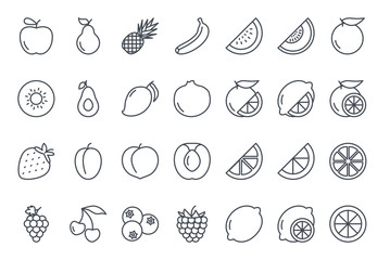 Estores personalizados para cocina con tu foto Fruits Icon Outlined