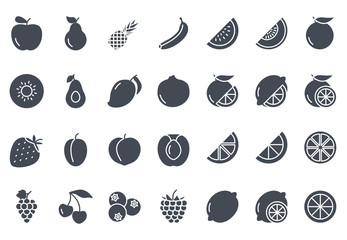 Fruits Icon Silhouette