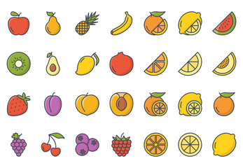 Fruits Icon Colored