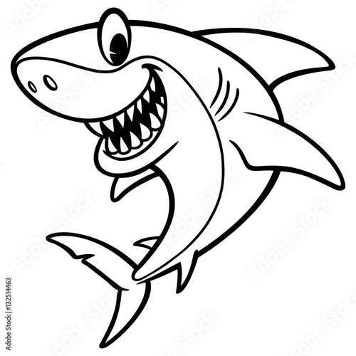 """Shark Cartoon Drawing"" Stock image and royalty-free vector files on Fotolia.com - Pic 132514463"