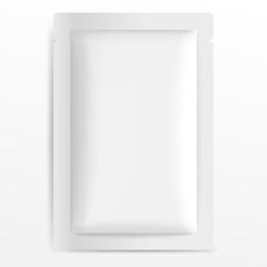 White Blank Foil Packaging : Vector Illustration EPS10