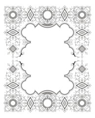 Vintage Frame Ornament vector