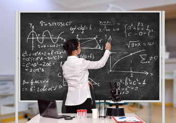 teacher drawing formula