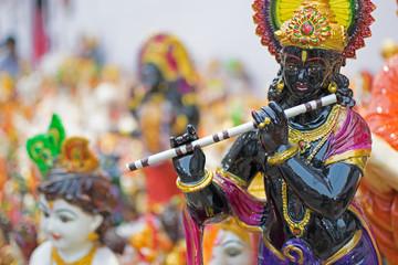Lord Krishna, handicraft items on display , Kolkata
