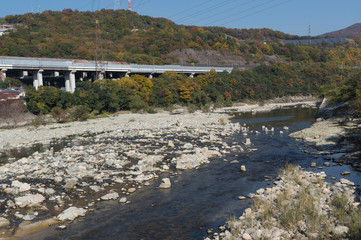 This beautiful mukogawa river amidst mesmerizing greenery is located in Hyogo city, takedao Prefecture.