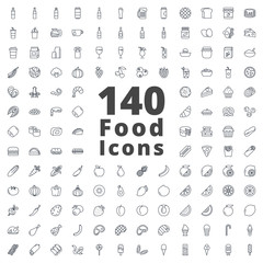Food Icon Pack Outlined