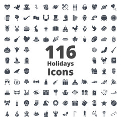Holidays Icon Silhouette