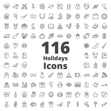 Holidays Icon Outlined