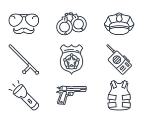 Police Icon Outlined