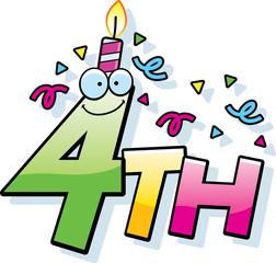 Cartoon 4th Birthday