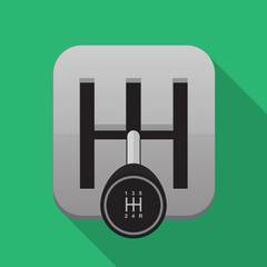 Manual transmission vector icon.