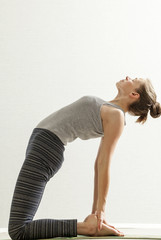 women's yoga practice