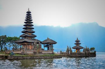Temple on the Lake Pura Ulun Danu Bratan in Bali