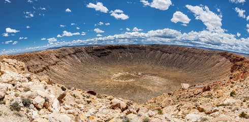 Meteor Crater panoramic view, in Winslow, Arizona, USA