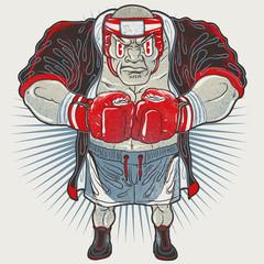 Aggressive boxer