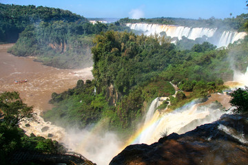 Iguazu waterfalls. View from Argentina