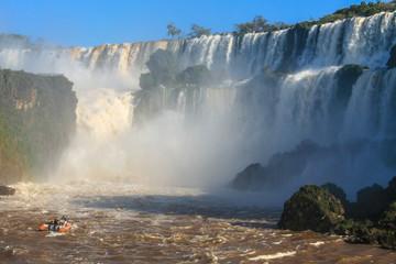 Iguazu waterfalls. View from Argentina