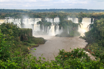 Iguazu waterfalls. View from Brazil