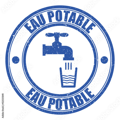 "Security Hut Symbol: ""Logo Eau Potable."" Stock Image And Royalty-free Vector"