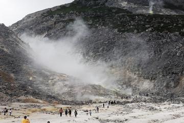 北海道の硫黄山