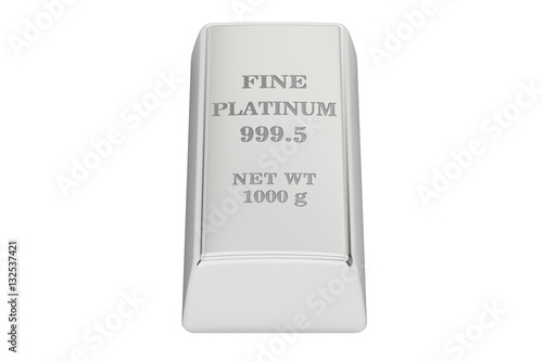 """platinum ingot, 3D rendering"" Stock photo and royalty ..."