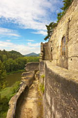 Rocky castle Sloup in nothern Bohemia